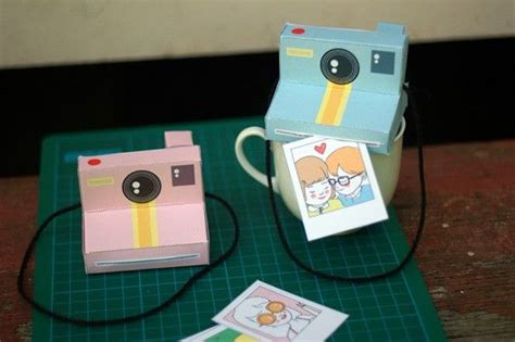 printable paper camera perfect paper polaroid cameras includes 2 colours baby