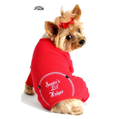 pajamas for dogs santa s lil helper pajamas baxterboo
