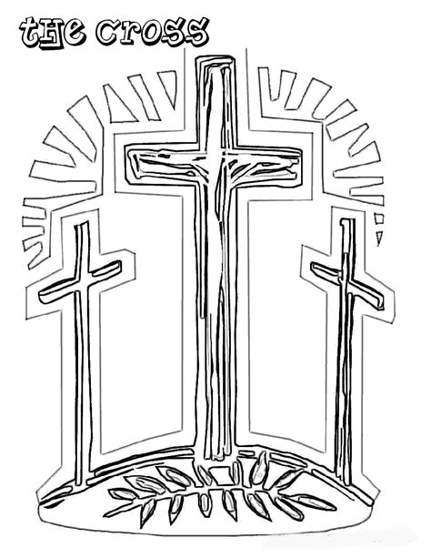 coloring page cross free coloring pages christian easter coloring pages