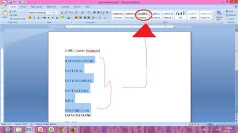 membuat daftar isi otomatis daftar gambar daftar