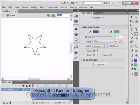 flash tutorial in hindi lesson 03 basic shapes in flash cs5 part 01 adobe flash