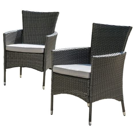 patio dining chairs with cushions malta set of 2 wicker patio dining chair with cushions