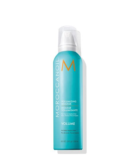 volume products fine hair volumizing mousse hair care moroccanoil
