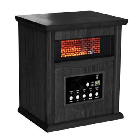 comfort zone therapeutic infrared heater comfort zone 750 1500 watt infrared wood cabinet quartz