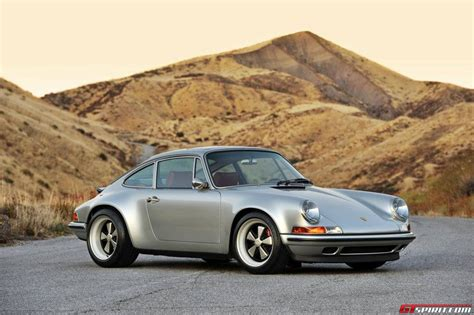 singer porsche red photo of the day singer 911 in racing silver with ruby