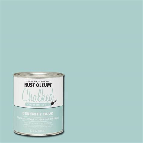rust oleum 30 oz ultra matte interior chalked paint serenity blue of 2 285139 the