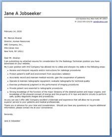 how to write a cover letter for a radiology technologist