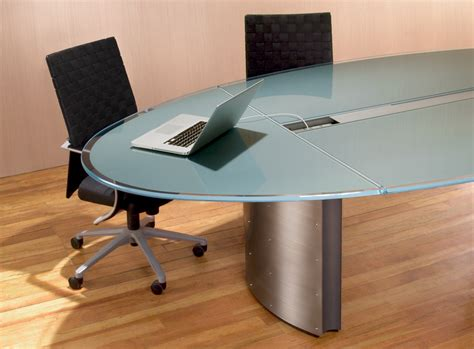 Glass Meeting Table Oval Glass Conference Table Stoneline Designs