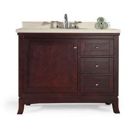 42 inch bathroom vanity lowes ove decors 42 in tobacco ove decor single sink bathroom