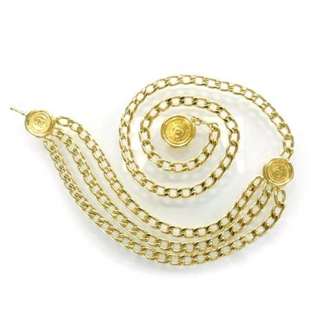 Clutch Gucci Fashion 8611 Chanel Vintage Metal Chain Cc Medallion Belt Gold 29300