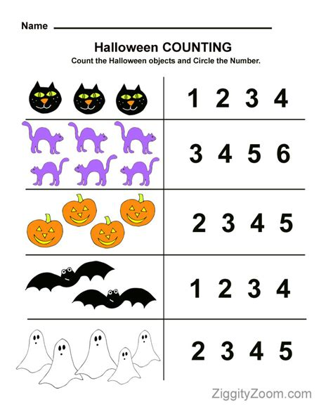 kindergarten halloween pattern worksheets halloween preschool worksheet for counting practice