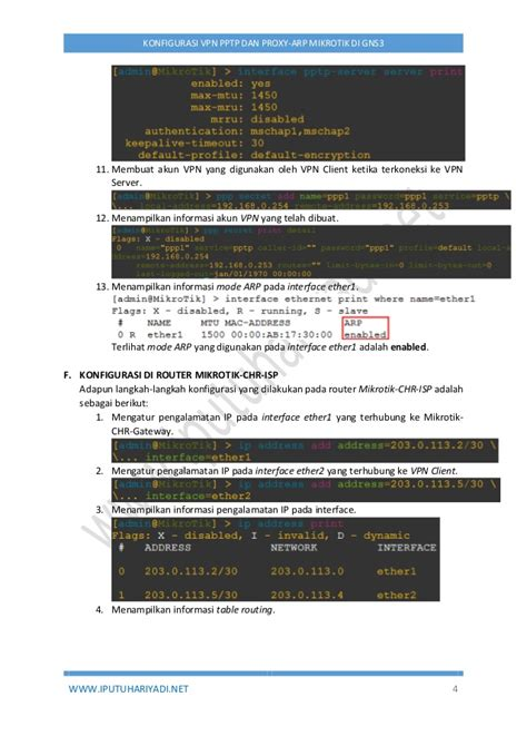 membuat vpn pptp di mikrotik konfigurasi vpn pptp dan proxy arp menggunakan mikrotik di