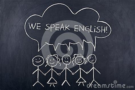 speaking english language concept stock photo image