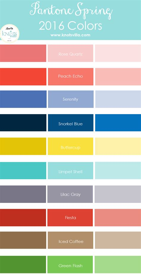 what is the color of 2016 pantone spring 2016 colors knotsvilla