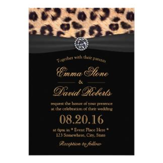 Animal Print Wedding Invitations by Leopard Print Invitations Announcements Zazzle