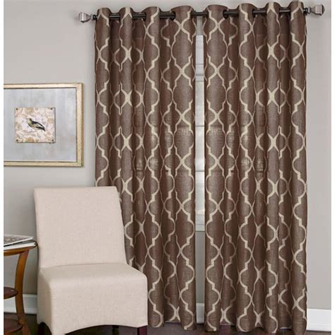 curtains in jcpenney elrene medalia grommet top curtain panel for the home