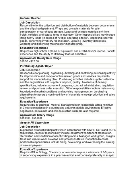 sle resume for material handler 28 images 28