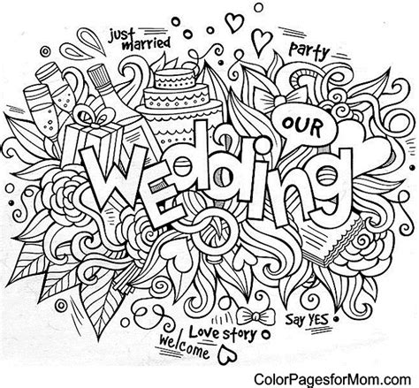 love themed coloring page doodles 49 wedding advanced coloring pages