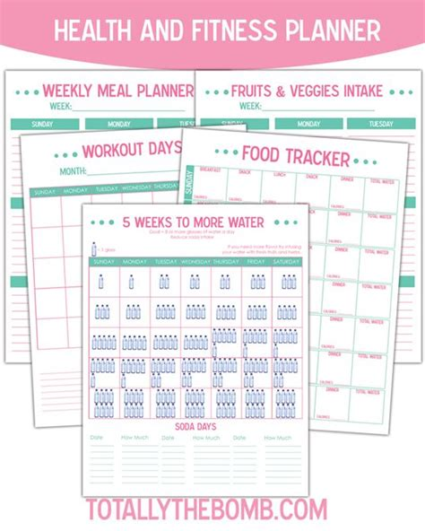 printable diet and exercise planner pinterest the world s catalog of ideas
