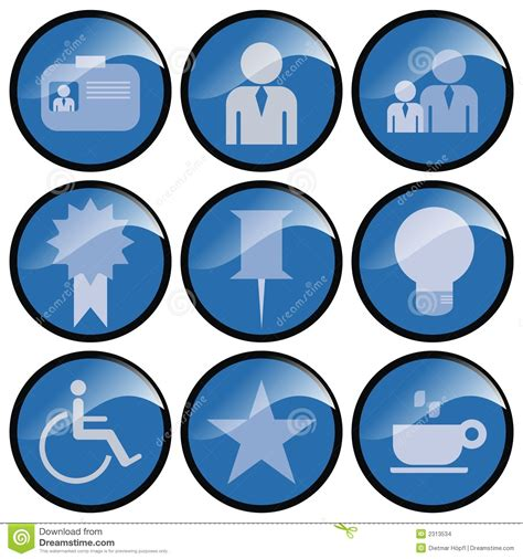 Round Blue Icon Buttons stock illustration. Image of icons   2313534