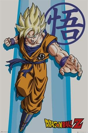 ss goku, dragon ball z poster buy online