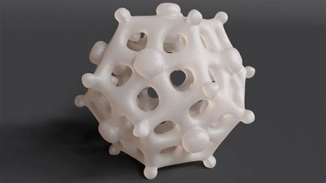 dodecahedra virus  printable model cgtrader