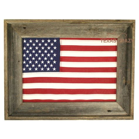 vintage style cotton 12 x 18 inch american flag framed