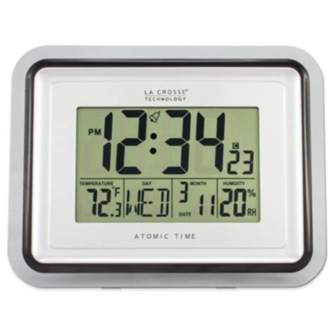 buy digital clock buy wall clock with digital display from bed bath beyond