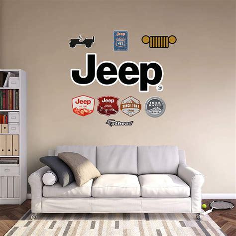 jeep logo wall decal shop fathead  chrysler decor