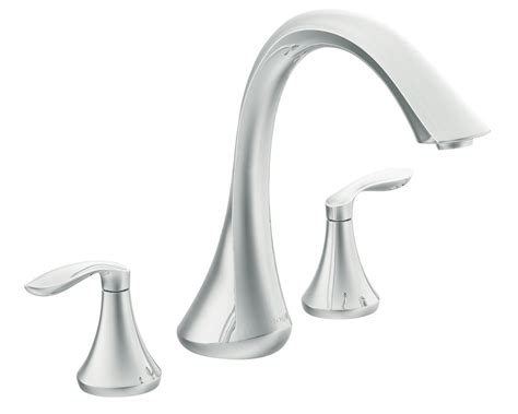 moen bathtub faucet moen t943 eva two handle high arc roman tub faucet without