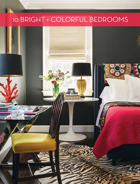 Colorful Master Bedroom by Eye 10 Bold Colorful Master Bedrooms 187 Curbly