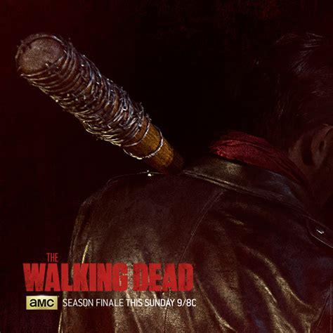 negan s bat the walking dead season 6 finale poster features negan s