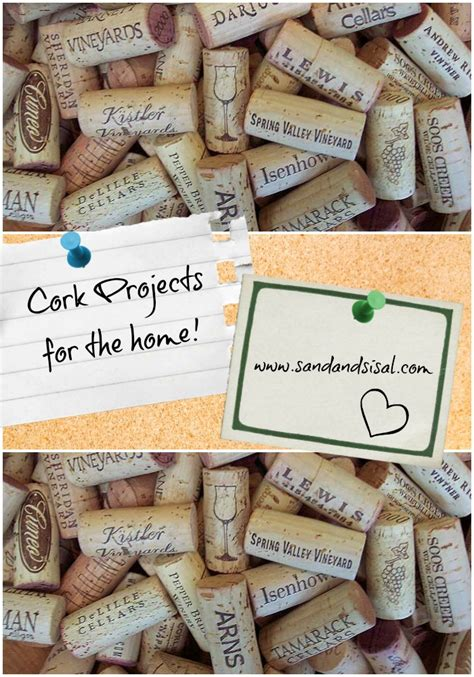 cork crafts projects s cork sand and sisal