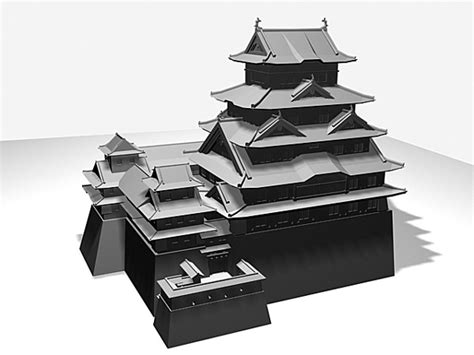 Floor Plan Autodesk by Himeji Castle Japanese Complex 3ds 3d Studio Max