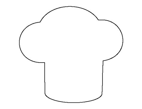 chef hat printable template chef hat pattern use the printable outline for crafts