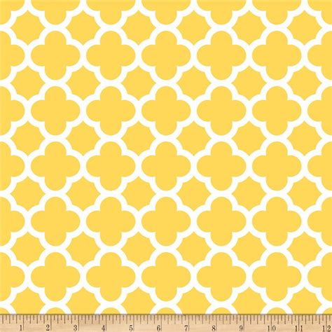 yellow quatrefoil pattern riley blake quatrefoil yellow discount designer fabric