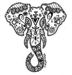 coloriage elephant mandala