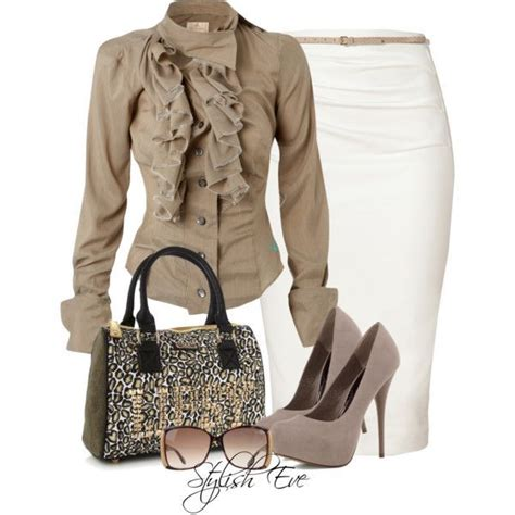 7 Stylish Neutral Clothes by 2013 Formal Wear With Pencil Skirts Stylish