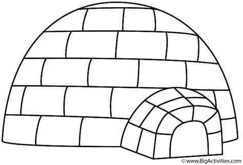 igloo coloring book coloring pages