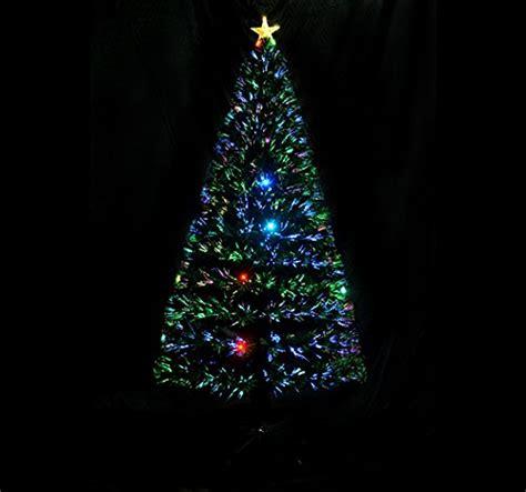 24 inch fiber optic christmas tree 6 fiber optic w 24 led lights pre lit artificial import it all