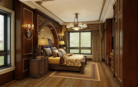 interior decorating american style villa bedroom decoration