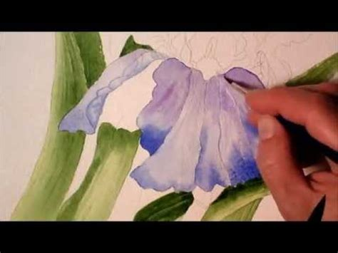 watercolor tutorial flowers youtube iris in watercolor painting process time lapse youtube
