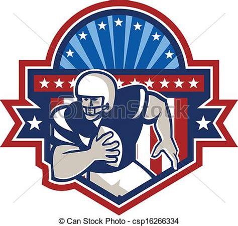 vecteurs de américain, football, crête, quarterback, qb