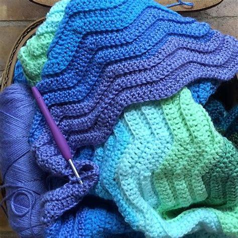 small ocean waves crochet blanket in beautiful blues 25 best ideas about ripple afghan on pinterest