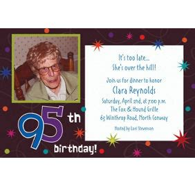 Custom The Party Continues 95th Birthday Invitations Party City 95th Birthday Invitation Templates