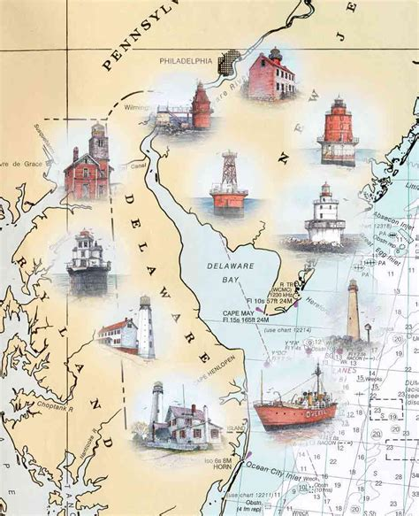 map of maryland lighthouses bays bay area and charts on