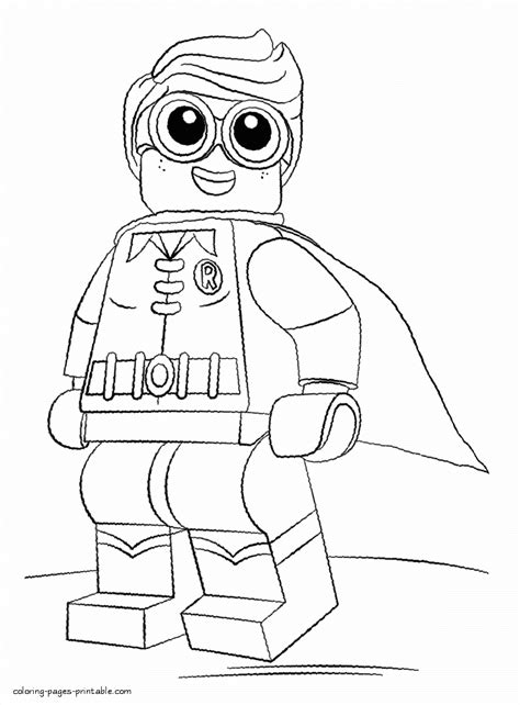 lego batman movie pages to color robin coloring page