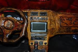 cool car interior made from wood autoevolution