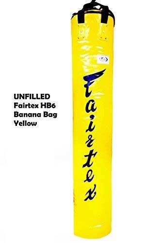 Fairtex Hb 6 By Kicx Mma Shop fairtex unfilled hb6 6ft muay thai banana bag yellow