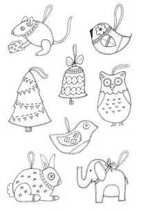 felt christmas ornament templates